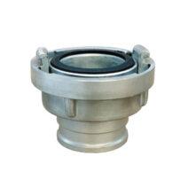 Oltóanyag szállító tűzoltótömlőknek egymáshoz, a tűzoltószekrényekhez és a tűzoltó vízforráshoz való csatlakoztatására szolgáló 25 mm-es tömlőkapocs.