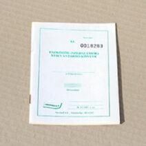 Eszközök (szerszámok) nyilvántartó könyve: NYA034001