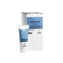 Plutect Dual: Kombinált védőkrém, kondícionáló hatással. Hasznos minden munkavégzés előtti használatra, egyaránt véd a vizes és olajos bázisú termékek ártalmas hatásaival szemben is. Illatanyagmentes.