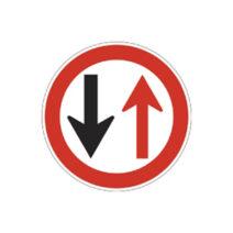 Áthaladási elsőbbséget szabályozó jelzőtáblák